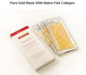 Nanogold Natural Inventia Gesichtsmaske mit natürlichen Fischkollagen